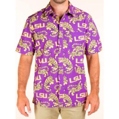 LSU Tellum And Chop Tiger Print Hawaiian Shirt