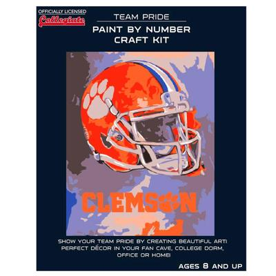 Clemson Paint by the Numbers Kit