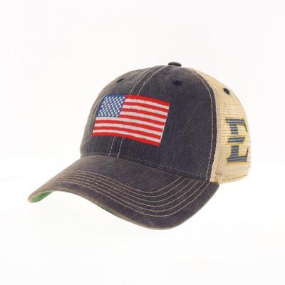 ETSU US Flag Trucker Hat