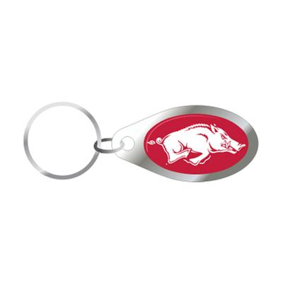 Arkansas Razorback Logo Keychain