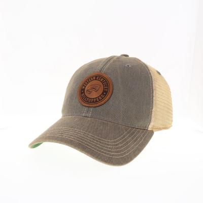 Western Kentucky Legacy Leather Circle Patch Trucker Hat