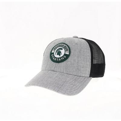 Michigan State Legacy YOUTH Road Patch Trucker Hat