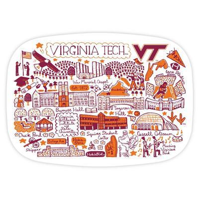 Virginia Tech Julia Gash 14 inch Serving Platter