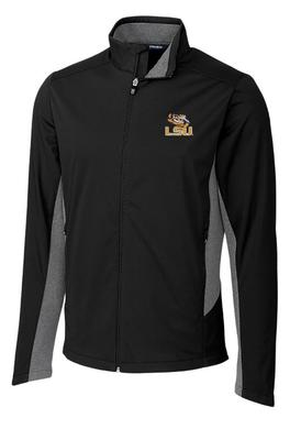 LSU Cutter & Buck Big & Tall Navigate Softshell Jacket