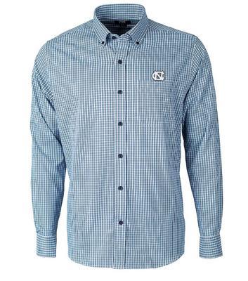 UNC Cutter & Buck Big & Tall Versatech Multi Check Dress Shirt