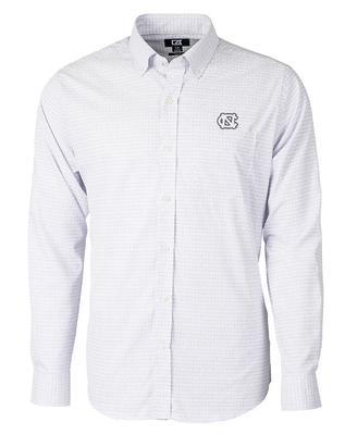 UNC Cutter & Buck Big & Tall Versatech Tattersall Dress Shirt