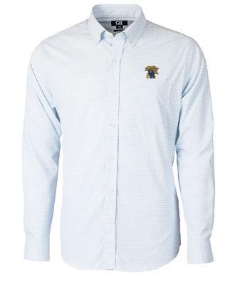Kentucky Cutter & Buck Big & Tall Versatech Tattersall Dress Shirt