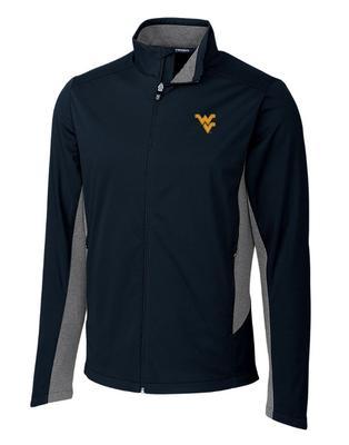 West Virginia Cutter & Buck Big & Tall Navigate Softshell Jacket