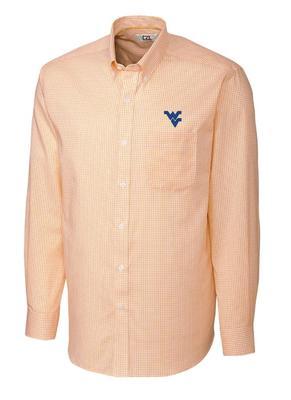 West Virginia Cutter & Buck Tattersall Dress Shirt
