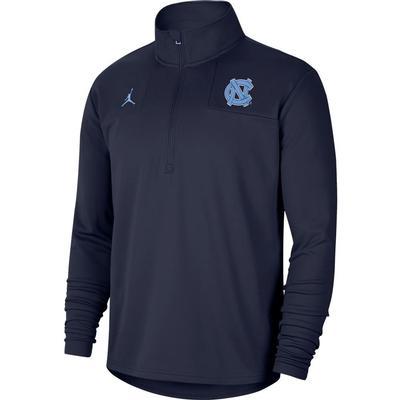 UNC Jordan Brand Coach Top Half Zip Pullover