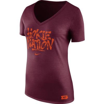 Virginia Tech Nike Women's Brush Phase Tee