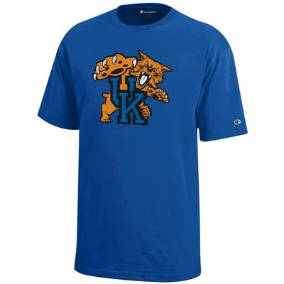 Kentucky Champion YOUTH Giant Wildcat Logo Tee