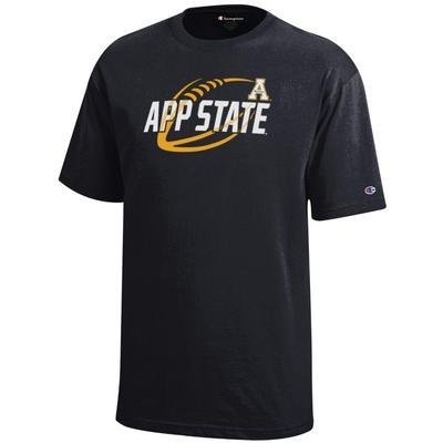 Appalachian State Champion YOUTH Diagonal Football Tee