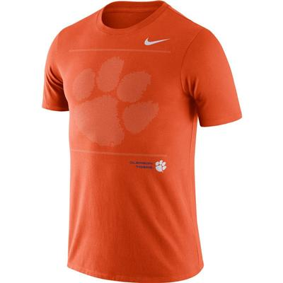 Clemson Nike Team Issued Short Sleeve Dri-fit Cotton Tee