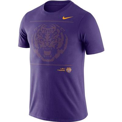 LSU Nike Team Issued Short Sleeve Dri-fit Cotton Tee