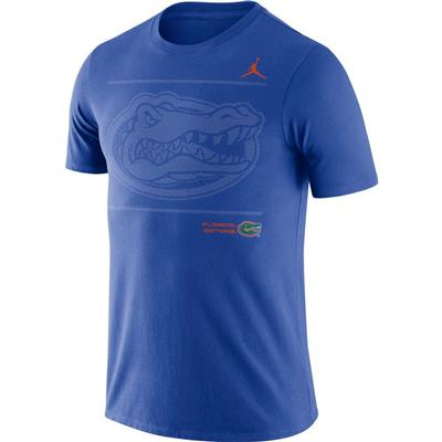Florida Jordan Brand Team Issued Short Sleeve Dri-fit Cotton Tee