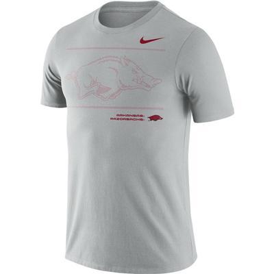 Arkansas Nike Team Issued Short Sleeve Dri-fit Cotton Tee