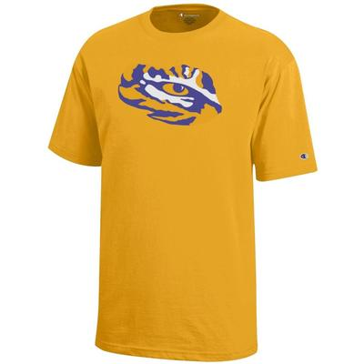 LSU Champion YOUTH Giant Tiger Eye Logo Tee