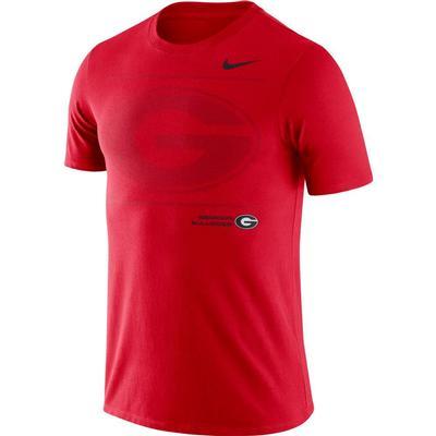 Georgia Nike Team Issued Short Sleeve Dri-fit Cotton Tee