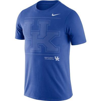 Kentucky Nike Team Issued Short Sleeve Dri-fit Cotton Tee