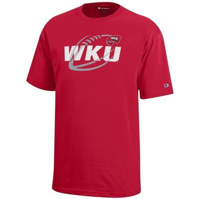 Western Kentucky Champion YOUTH Diagonal Football Tee