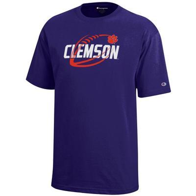 Clemson Champion YOUTH Diagonal Football Tee