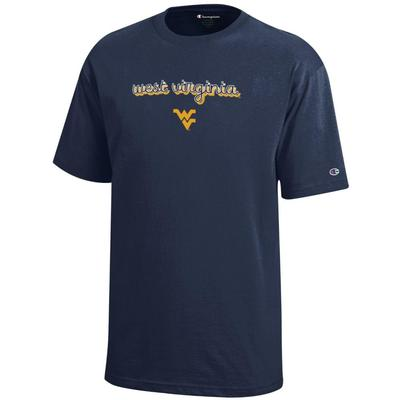West Virginia Champion YOUTH Girly Script Tee