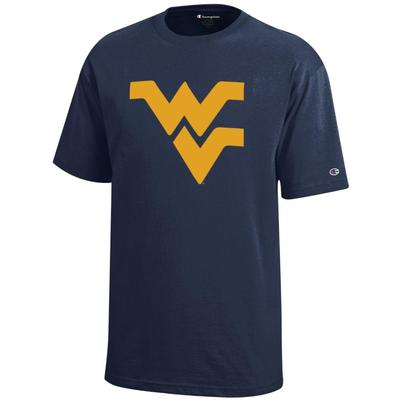 West Virginia Champion YOUTH Giant Logo Tee