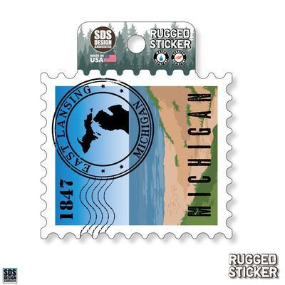 Seasons Design Lansing State Stamp 3.25