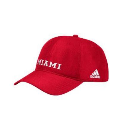 Miami Adidas Miami Logo Adjustable Hat