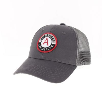 Arkansas Legacy YOUTH Road Patch Trucker Hat