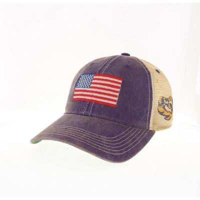 LSU Legacy US Flag Trucker Hat