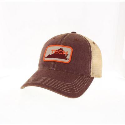 Virginia Tech Legacy Vault State Trucker Hat