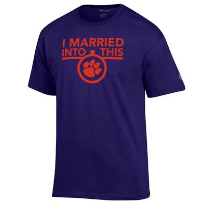 Clemson Champion Women's I Married Into This Tee
