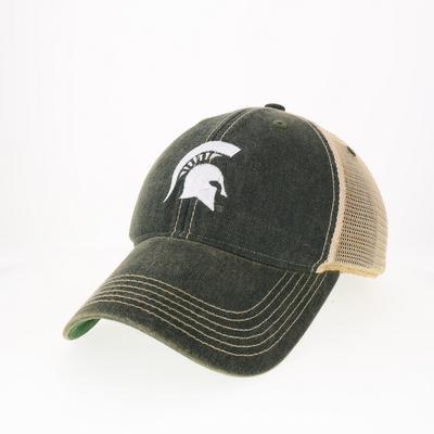 Michigan State Legacy Women's Spartan Helmet Logo Trucker Hat