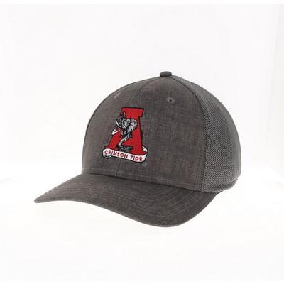 Alabama Legacy Vault A with Elephant Logo Flex Fit Hat