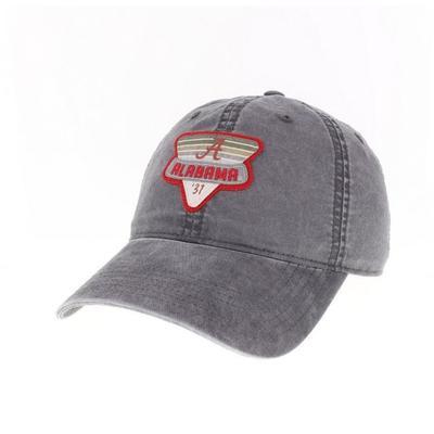 Alabama Legacy Triangle Patch Adjustable Hat