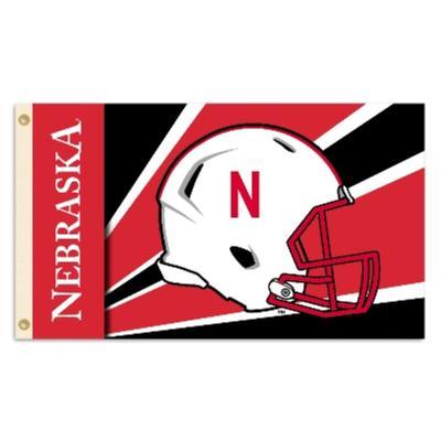 Nebraska BSI Football House 3 x 5' Flag