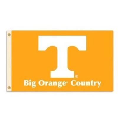 Tennessee Logo House Flag Horizontal Big Orange Country