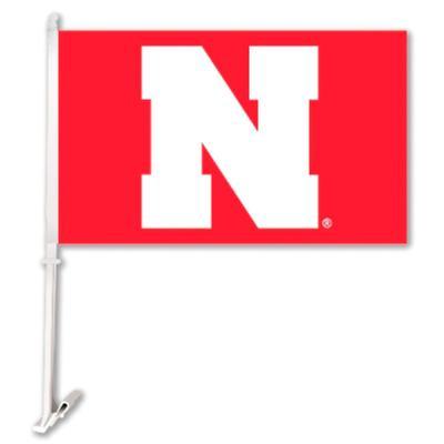 Nebraska BSI N Logo Car Flag