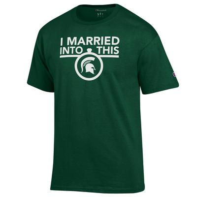 Michigan State Champion Women's I Married Into This Tee