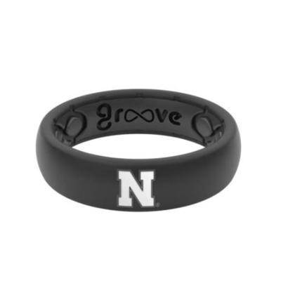 Nebraska Thin Cornhuskers Groove Life Ring