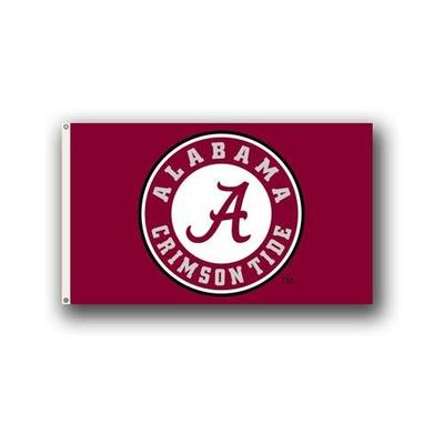 Alabama Circle Logo House Flag 3'x5'