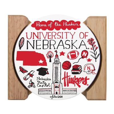 Nebraska Julia Gash Drink Coasters (4 Pack)