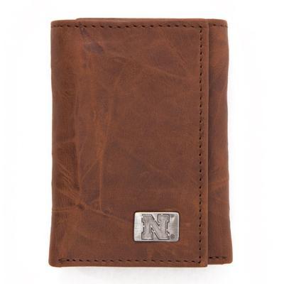 Nebraska Eagles Wings Trifold Wallet
