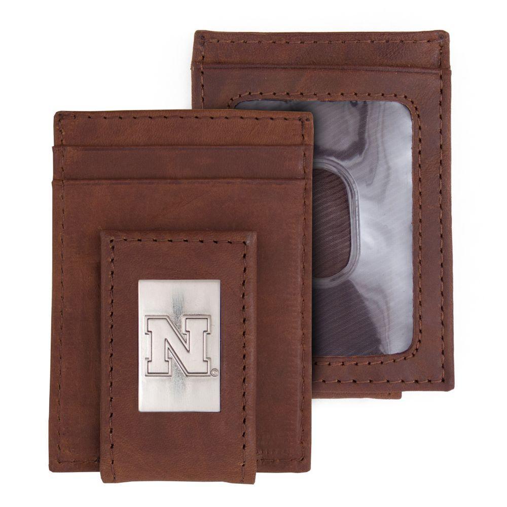 Nebraska Eagles Wings Front Pocket Wallet