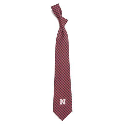 Nebraska Eagles Wings Gingham Tie