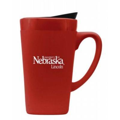 Nebraska 16oz Soft Touch Mug with Lid