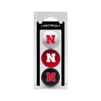 Nebraska 3 Pack Golf Balls