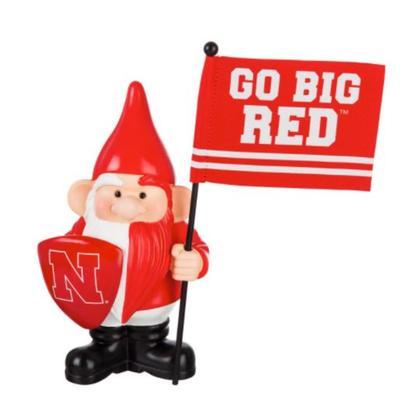 Nebraska Garden Gnome with Flag